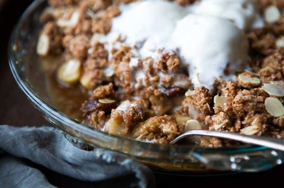 Vegan Pear and Almond Crumble (Gluten-Free)